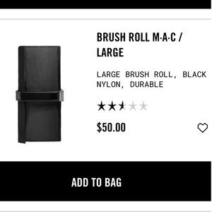 MAC Make-up Brush Pouch